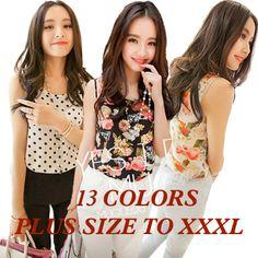 EXCLUSIVE plus size XXXL 8 colors 2014 women clothing print ladies blouses sleeveless Loose Blouses tank Casual Tops for women|a58281fd-c765-4f5d-b180-db0eb8ad7c73|Blouses & Shirts
