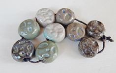 Set beads rustic . By Mª Carmen Rodriguez ( Majoyoal ) https://www.facebook.com/groups/CeramicArtBeadMarket