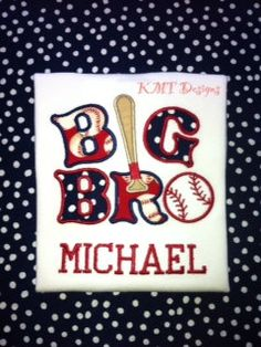 Baseball Theme Big Brother Shirt by kmtdesigns914 on Etsy, $18.00