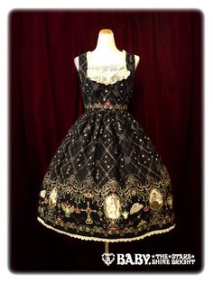 Alice and the Pirates  Elizabeth Bride of the Death JSK II ☆Noir(Black x Ivory chiffon x Ivory lace x Black ribbon)