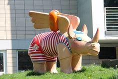 symbol niemieckiego miasta Dortmund - skrzydlate nosorożce
