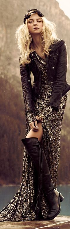 could look very good once finished as steam punk Hippie Chic, Mode Hippie, Mode Boho, Gypsy Style, Boho Gypsy, Hippie Style, Bohemian Style, Estilo Folk, Estilo Retro