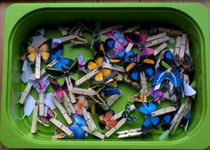 butterfly search game in the house or playground. Great for visual scanning and processing games.
