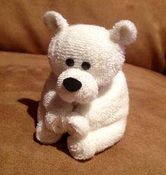 Baby washcloth teddy bear