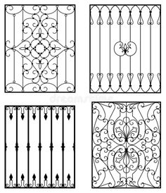 A Short History Of Wrought Iron Door Inserts Wrought iron is an excellent material for making protective and decorative doors. The metal is made out of pure iron. It was the metal of choice for. Iron Window Grill, Window Grill Design, Wrought Iron Decor, Wrought Iron Gates, Iron Windows, Iron Doors, Porta Colonial, Steel Fence, Iron Art