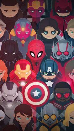 Wallpaper dos Vingadores para celular