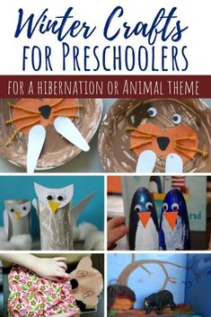 These Winter crafts for preschoolers all fit within some common themes for this age: arctic animals, hibernation, snow/cold and Chinese New Year. Activities To Do With Toddlers, Winter Activities For Kids, Toddler Learning Activities, Preschool Themes, Preschool Activities, Diy Projects For Kids, Crafts For Kids, Arctic Animals, Crazy Kids