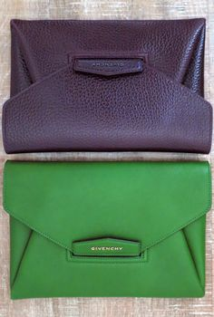 Givenchy clutches.  Colors are rich and beautiful!