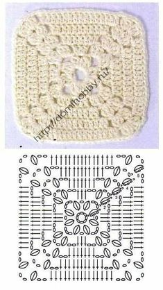 Love scrap use maybe that happens to all old knitters and crocheters lol jh crochet fox crochet gifts love crochet crochet granny crochet squares crochet lace crochet motif crochet stitches crochet patterns – ArtofitCal crochet in boom flower squar Motifs Granny Square, Crochet Motifs, Crochet Blocks, Granny Square Crochet Pattern, Crochet Diagram, Crochet Stitches Patterns, Crochet Chart, Crochet Squares, Crochet Granny