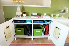 25 Back-to-School Organization Tips for the Home.. Put this by the door or near the kitchen for running out the door.