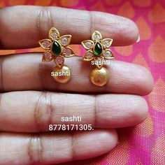 You many think that the higher the carat, the better the jewelry. Not so with for men's gold jewelry. Read more here about which gold to buy for jewelry. Gold Jhumka Earrings, Indian Jewelry Earrings, Jewelry Design Earrings, Gold Earrings Designs, India Jewelry, Earings Gold, Coral Earrings, Ring Designs, Pendant Jewelry