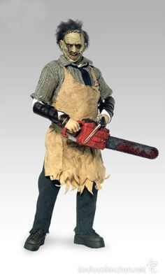 Leatherface (Thomas Hewitt) from New Line House of Horrors - Texas Chainsaw Massacre manufactured by Sideshow [Loose] Cool Monsters, Classic Monsters, Scary Movies, Horror Movies, Horror Action Figures, Horror Merch, Mascaras Halloween, Horror Photos, Horror Decor
