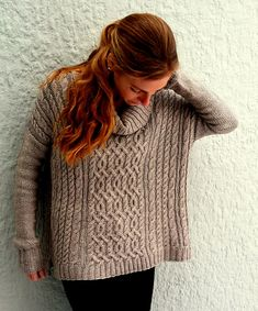 Cables cables cables! Cowl neck, oversized, comfy!  Ravelry: Chloe pattern by Amy Miller
