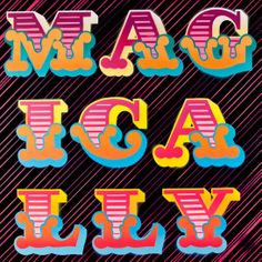 Gaspipe Magically, from Heartfelt, a collection of word paintings using spray-paint with cast-iron letters // by Ben Eine Bold Words, New Words, Graffiti Font, Street Art Graffiti, Handwriting Fonts, Design Art, Typography, Letters, Shapes