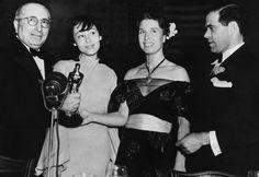 Louis B. Meyer, Luise Rainer, Louise Tracy i Frank Capra (1938)
