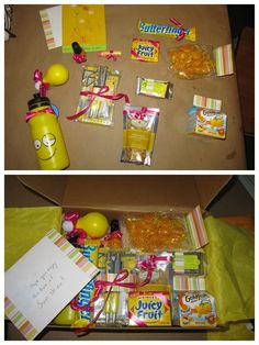 Box of Sunshine care package AND more creative birthday gift   http://giftsforyourbeloved.blogspot.com