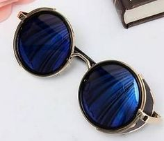 steampunk sunglasses blue