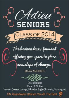 1000+ images about Farewell Invitation on Pinterest ...