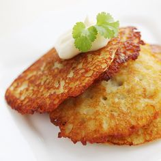 "There is a very tasty dish of Ukrainian cuisine, which is called ""deruny"". It is potato pancakes which are fried to a crisp. Leftover Mashed Potato Pancakes, Thanksgiving Leftover Recipes, Ukrainian Recipes, Ukrainian Food, Russian Recipes, Potato Side Dishes, Leftovers Recipes, Vegetable Dishes, Side Dish Recipes"