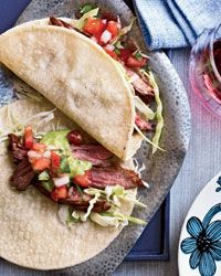 Grilled-Chicken Tacos and Chile-Spiced Skirt Steak Tacos