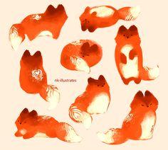 "nk-illustrates: "" Thai Tea Fox. """