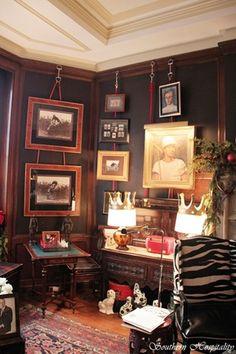Billiard room walls