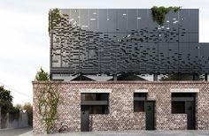 DKO, Melbourne, heritage building, green renovation, 3 Waterloo St, listed building, brick facade, cross ventilation, metal facade, natural light, floating architecture, floating building