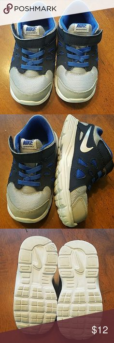 Nike shoes Nike revolution 2 blue/gray velcro - like new Nike Shoes Sneakers