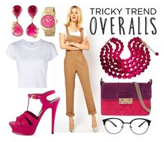 """""""Overalls"""" by tara-omar ❤ liked on Polyvore featuring ASOS, RE/DONE, Lanvin, Yves Saint Laurent, Juicy Couture, VanLeles, Chanel, TrickyTrend and overalls"""