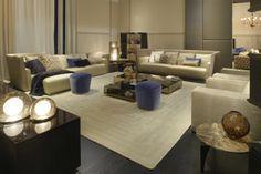 The Fendi Casa collection presented at the Paris Maison Objet 2014 Luxury Sofa, Luxury Living, Luxury Interior, Fendi Casa, Mesa Sofa, Cream Living Rooms, Beautiful Interior Design, Affordable Furniture, Elegant Homes