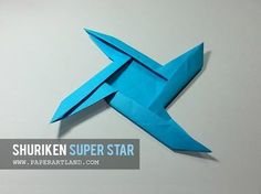 BEST PAPER AIRPLANES [81] - How to make an EASY SHURIKEN that flies back | Super Star - YouTube