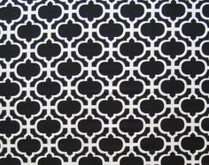 Black Tile Geometric Ogee Quilter's Weight by SuchPrettySupplies, $11.00