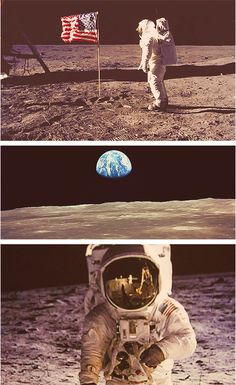 """""""It suddenly struck me that that tiny pea, pretty and blue, was the Earth. I put up my thumb and shut one eye, and my thumb blotted out the planet Earth. I didn't feel like a giant. I felt very, very small"""" - Neil Armstrong #RIP"""