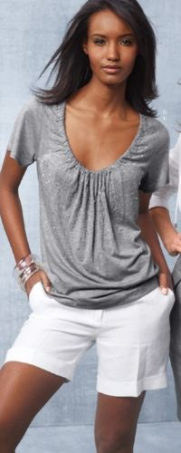 I wear lots of grey and black, but would also love this top in a color