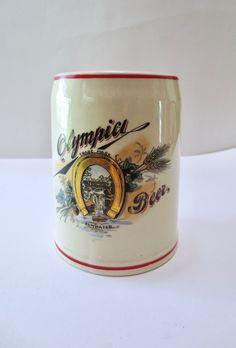 Antique Olympia beer mug 1904 beer stein, Tumwater, golden horseshoe, beer drinker, man cave, brewery decor, 5 In jackpot Jen Vintage by JackpotJen on Etsy