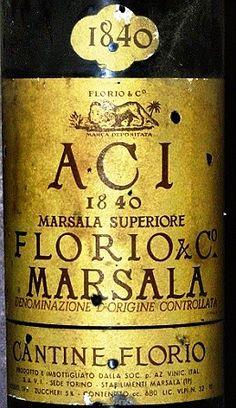 """Marsala Riserva 1840 """"ACI"""" FLORIO"""