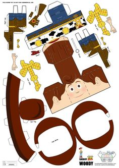 Blog Paper Toy papercraft Woody template preview Papercraft du Shérif Woody (Toy Story)