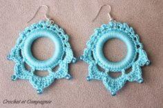 Crochet et compagnie: Boucles d'oreilles au crochet: grille et tuto