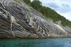 Unusual rock formations near Bodo Norway