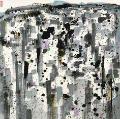 吳冠中 (1919-2010) 吳冠中 峭壁 設色紙本 鏡框 一九八九年作 估價 3,000,000 — 5,000,000 HKD 拍品已售 7,960,000 HKD