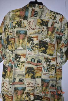 3c2be182d Tommy bahama 100% silk casino la to las vegas hawaiian camp shirt men m