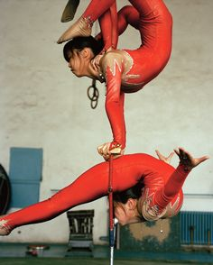Contortionists from the Mongol National Circus, Ulaan Baatar.
