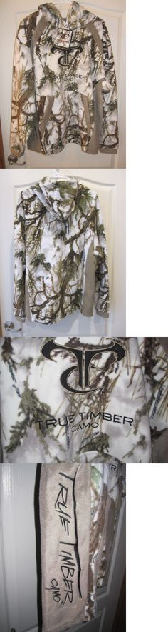 Hoodies and Sweatshirts 177871: Mens True Timber Fleece Hoodie Snow Camo Mc2 Hunting Size Xx-Large New -> BUY IT NOW ONLY: $42.5 on eBay!