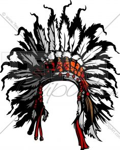 7819efd9 Clipart Indian Headdress Image. Easy to Edit Vector Format. Watercolor  Paintings, Acrilic Paintings