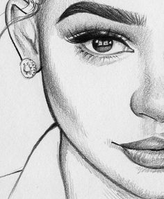 pencil art, sketches of girls faces, girl drawing sketches, girly drawings Girl Drawing Sketches, Cool Art Drawings, Pencil Art Drawings, Easy Drawings, Drawing Faces, Beautiful Drawings, Girly Drawings, Half Face Drawing, Drawing Women Face