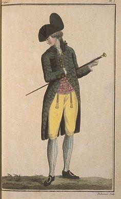 Cabinet des Modes, April 1, 1786, 10e Cahier, 1ere Planche.
