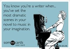 Guilty!  I've just about decided upon a soundtrack for my novel's film adaption even though I'm not even published yet. XD