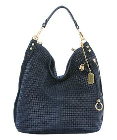 Look what I found on #zulily! Blue Woven Leather Hobo #zulilyfinds