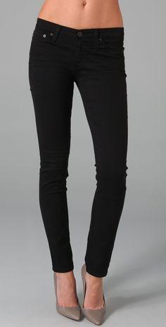 Ag Adriano Goldschmied The Stilt Cigarette Jeans in Black | Lyst