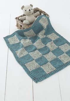 Blankets in Sirdar Snuggly Tiny Tots DK - 1334 Knitting For Kids, Baby Knitting Patterns, Loom Knitting, Baby Patterns, Free Knitting, Knitting Projects, Crochet Patterns, Knitted Afghans, Knitted Baby Blankets